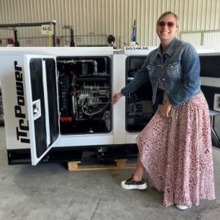 ITC Power Groupe électrogène diesel 6500W AVR monophasé DG7800SE